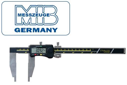 Elektroninis slankmatis, lūpos vienoje pusėje 300mm, DIN862, Skalė 0,01mm, paklaida 0,03mm lūpos - 90mm, MIB