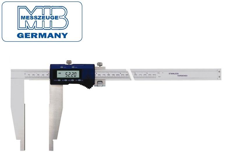 Elektroninis slankmatis, lūpos vienoje pusėje 500mm, DIN862, Skalė 0,01mm, paklaida 0,04mm lūpos - 150mm, MIB
