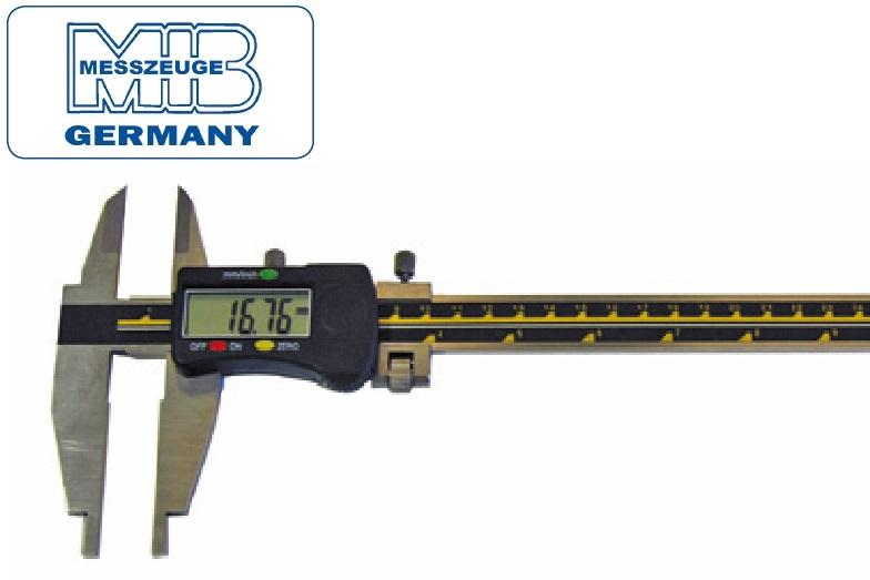 Elektroninis slankmatis, 300mm, DIN862, Skalė 0,01mm, paklaida 0,03mm lūpos - 90mm, MIB