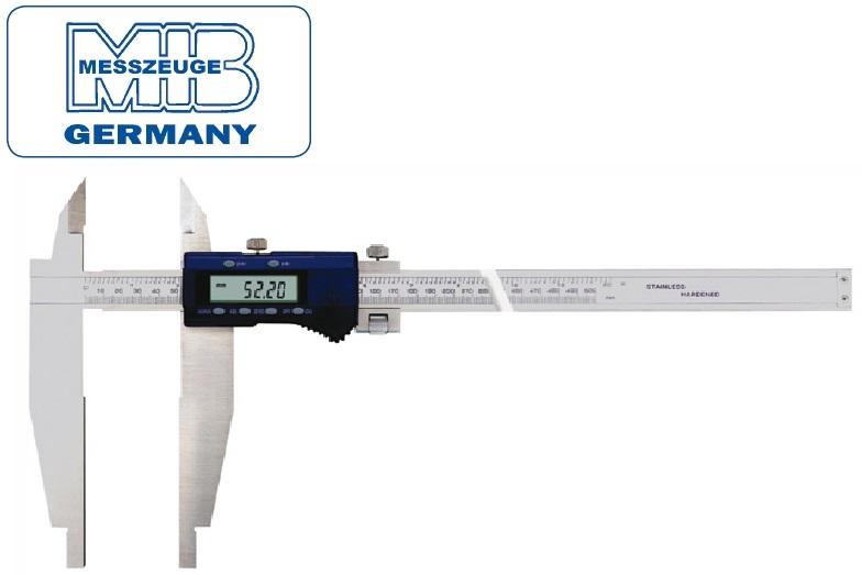 Elektroninis slankmatis, 500mm, DIN862, Skalė 0,01mm, paklaida 0,04mm lūpos - 150mm, MIB