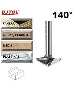 140°, D-32mm (0,2mm), d-6, Z2, Freza su kietmetalinė V formos pjaustymo dalimi, DJTOL,N2V632140