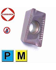 APKT1035PDER DW2025 Kietmetalinė plokštelė plieno ir nerūdijančio plieno frezavimui, CARBIDEN
