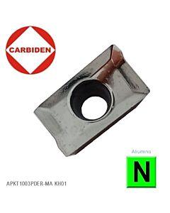 APKT1003PDER-MA KH01 Kietmetalinė plokštelė aliuminio frezavimui, CARBIDEN