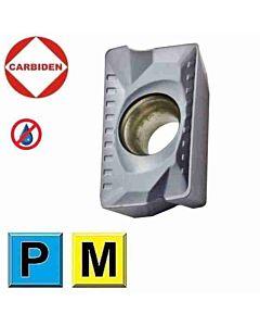 APKT1604PDER DL1250 Kietmetalinė plokštelė plieno ir nerūdijančio plieno frezavimui, CARBIDEN