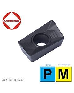 APMT160408 EP300, Kietmetalinė plokštelė, plieno ir nerūdijančio plieno frezavimui, CARBIDEN