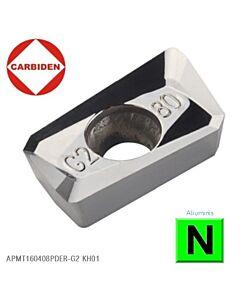 APMT160408PDER-G2 KH01, Kietmetalinė plokštelė, aliuminio frezavimui, CARBIDEN