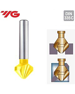 Ø10.4xØ6x50-90˚, Giliintuvas 3pl., 90°, HSSCo8%, su TIN danga, YG1, C1239104