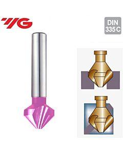 Ø6.3xØ5x45-90˚, Giliintuvas 3pl., 90°, HSSCo8%, su TICN danga, YG1, C1339063