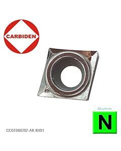 CCGT060204-AK KH01, Tekinimo kietmetalinė plokštelė aliuminiui, poliruota, CARBIDEN