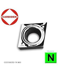 CCGT060202-TK M01, Kietmetalinė plokštelė aliuminiui, CARBIDEN