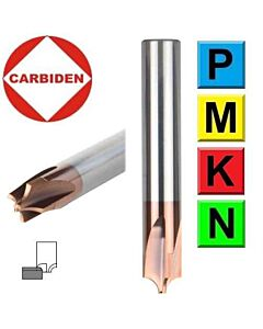R0.5mm 4 x 3 x 4 x 50, Z4, Fasoninė radiusinio kampo freza plienui, CCR0.5-4