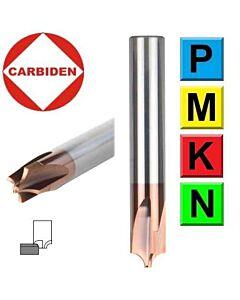 R4mm 10 x 2 x 10 x 50, Z4, Fasoninė radiusinio kampo freza plienui, CCR4-10