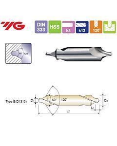 1.6X6.3X2.2X45mm, Centruotė, HSS, Forma B, YG, D1313016