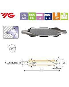 4X10X10X56mm, Centruotė, HSS-EX, Forma R,, YG, DV383040