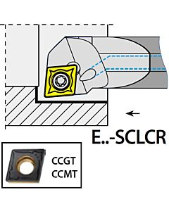 S16P-SCLCR09, Ø20XØ16X170XLH/CC09T3,  ISO Tekinimo laikiklis, vidinis, YG