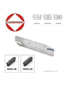 GBL-2602-GO2402 Atpjovimo laikiklis GD24..-20, GO24..-20 - 2mm pločio plokštelėms, kairinis. CARBIDEN, 12295514