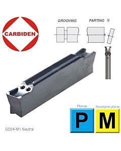 GD24NT-15.015-00-M1 CTPP345, Atpjovimo kietmetalio plokštelė su danga, skirta nerūdijančiam plienui ir plienui. CARBIDEN, 12599666