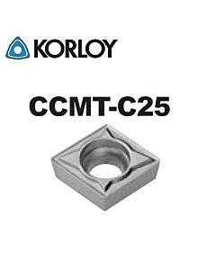 CCMT060204-C25 CN1500, KORLOY, Tekinimo plokštelė KERMET