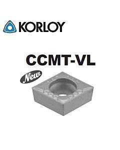 CCMT060204-VL CN2500, KORLOY, Tekinimo plokštelė KERMET atspari smūgiams ir vibracijoms