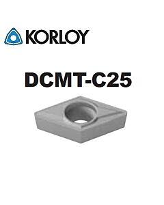 DCMT070202-C25 CN1500, KORLOY, Tekinimo plokštelė KERMET