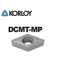 DCMT070204-MP CN2500, KORLOY, Tekinimo plokštelė KERMET atspari smūgiams ir vibracijoms