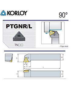 Tekinimo laikiklis, PTGNL2020-K16N, KORLOY