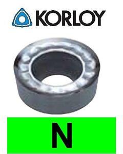 """Aliuminio tekinimo plokštelė su """"H"""" tolerancija, RCHT1204M0-AK H01, KORLOY"""