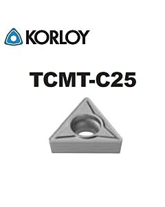 TCMT090204-C25 CN1500, KORLOY, Tekinimo plokštelė KERMET