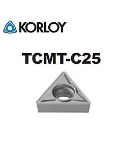 TCMT090204-C25 CN2500, KORLOY, Tekinimo plokštelė KERMET atspari smūgiams ir vibracijoms