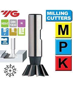 25mm (45') x 6,3 x 16 x 67, Z-8, Freza platėjanti HSS-E, YG, ML11202501, Multisistema, Mstools.