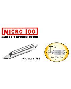 Graveris kietmetalinis 60 laipsnių, dviejų galų, D-0,1mm, d-6mm, Micro-100, RSCM-060-2