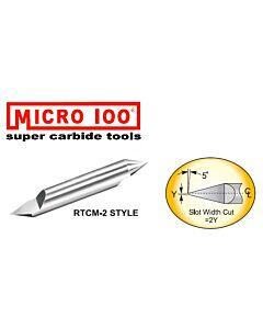 Graveris kietmetalinis 30 laipsnių, dviejų galų, su TiAlN danga, D-0,1mm, d-4mm, Micro-100š RTCM-040-2X