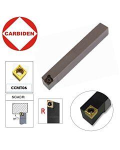 SCACR0808F06, Tekinimo laikiklis CCMT06  plokštelėms, CARBIDEN