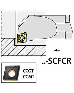 S12K-SCFCR06, 16X12X125XRH/CC0602,  ISO Tekinimo laikiklis, vidinis, YG