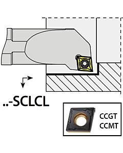 S12K-SCLCL09, 16X12X125XLH/CC09T3,  ISO Tekinimo laikiklis, vidinis, YG