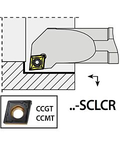 A08H-SCLCR06, 11X08X100XRH/CC0602,  ISO Tekinimo laikiklis, vidinis, YG