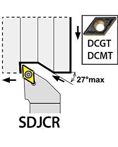 SDJCR1212F07, 12X12X80XRH/DC0702,  ISO Tekinimo laikiklis, išorinis, YG