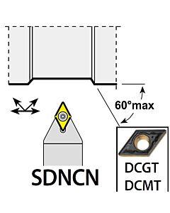 SDNCN1212F07, 12X12X80XNH/DC0702,  ISO Tekinimo laikiklis, išorinis, YG