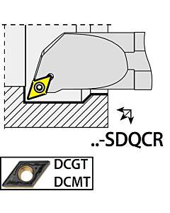 A12H-SDQCR07, 16X12X100XRH/DC0702,  ISO Tekinimo laikiklis, vidinis, YG