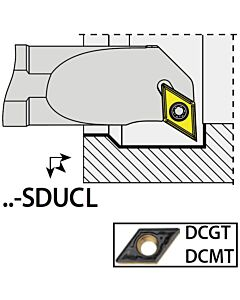S12K-SDUCL07, 16X12X125XLH/DC0702,  ISO Tekinimo laikiklis, vidinis, YG