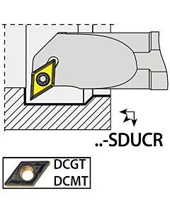 S12K-SDUCR07, 16X12X125XRH/DC0702,  ISO Tekinimo laikiklis, vidinis, YG