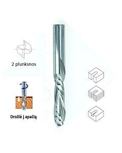 6mm Freza kietmetalinė, Z2, CARBIDEN, DFDC6-22