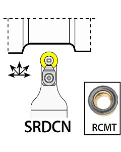 SRDCN2020K12C, 20X20X125XNH/RC1204,  ISO Tekinimo laikiklis, išorinis, YG