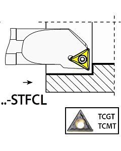 S12K-STFCL11, 17X12X125XLH/TC1102,  ISO Tekinimo laikiklis, vidinis, YG