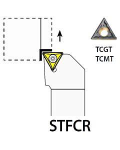 STFCR1616H11, 16X16X100XRH/TC1102,  ISO Tekinimo laikiklis, išorinis, YG