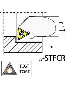 S12K-STFCR11, 17X12X125XRH/TC1102,  ISO Tekinimo laikiklis, vidinis, YG