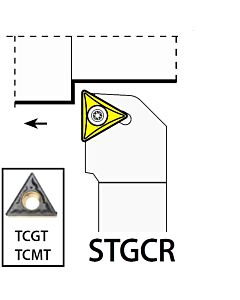 STGCR1616H11, 16X16X100XRH/TC1102,  ISO Tekinimo laikiklis, išorinis, YG