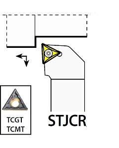 STJCR1616H11, 16X16X100XRH/TC1102,  ISO Tekinimo laikiklis, išorinis, YG