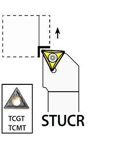 STUCR1616H11, 16X16X100XRH/TC1102,  ISO Tekinimo laikiklis, išorinis, YG