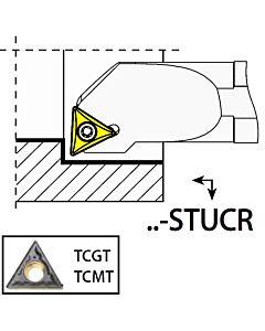 S12K-STUCR11, 17X12X125XRH/TC1102,  ISO Tekinimo laikiklis, vidinis, YG